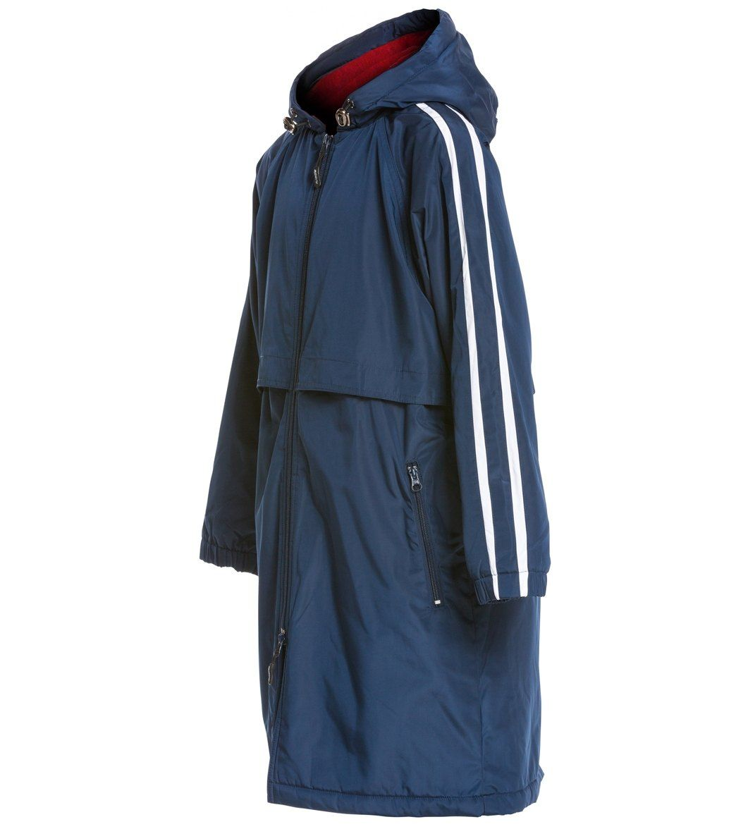 Sporti Striped Comfort Fleece-Lined Swim Parka Youth at SwimOutlet ...