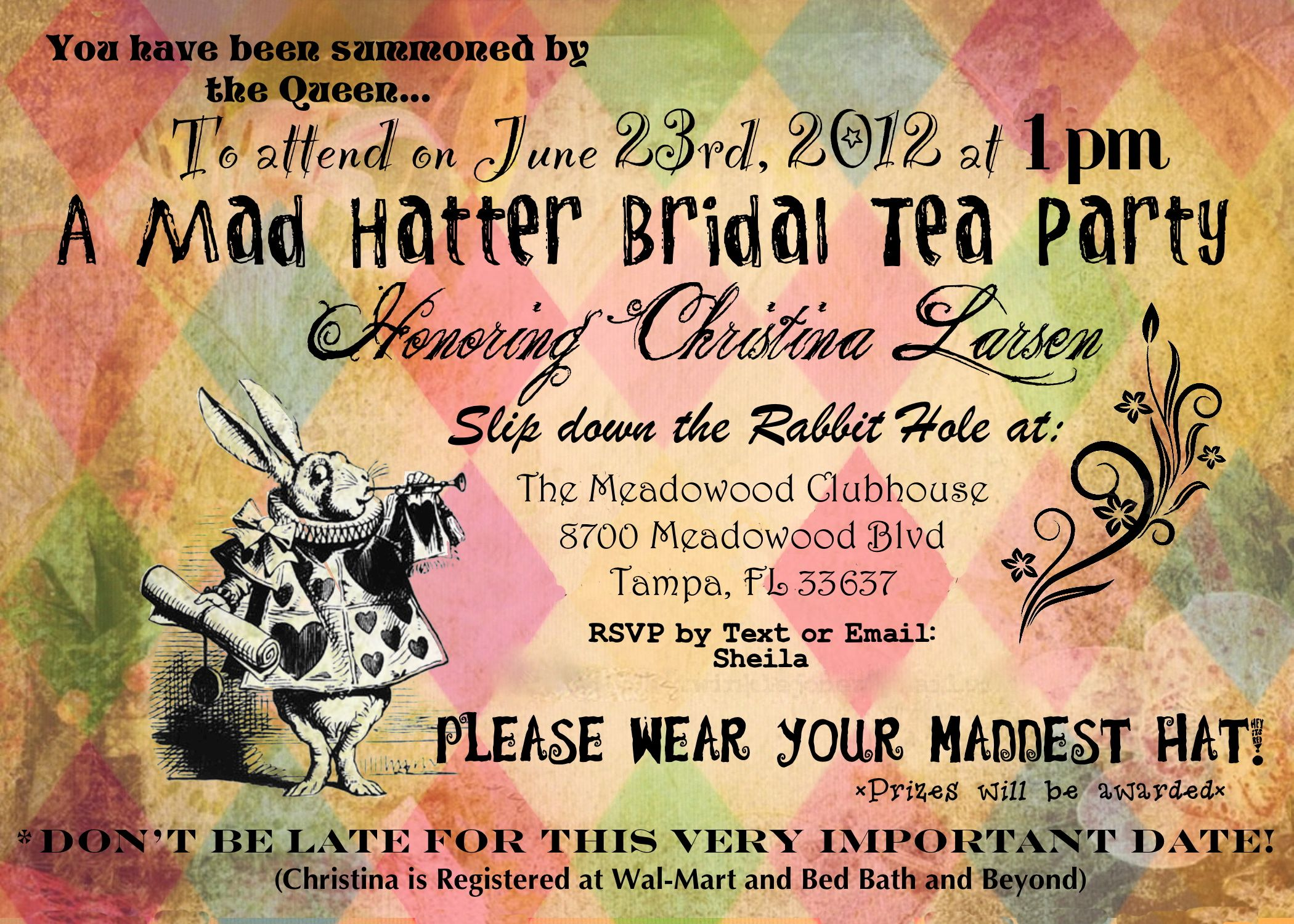 Delightful Mad Hatter Tea Party Invitations Templates Birthday ...