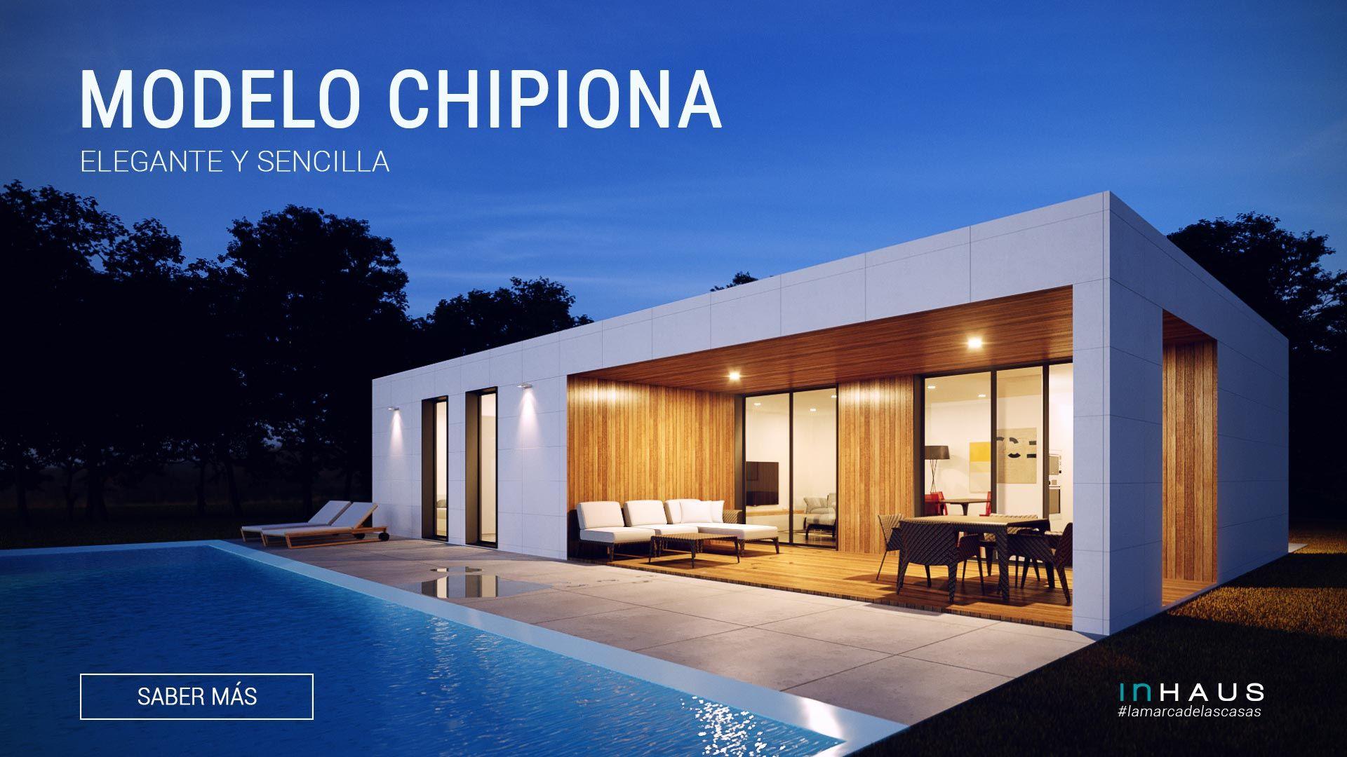 Casa modular de hormigón modelo Chipiona 3D 1P 2.118
