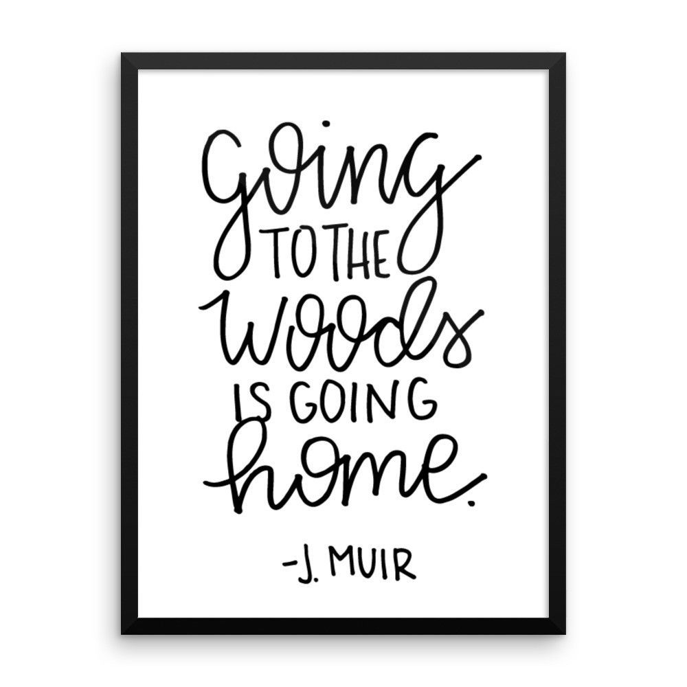 """""""To the Woods"""" Framed Print"""