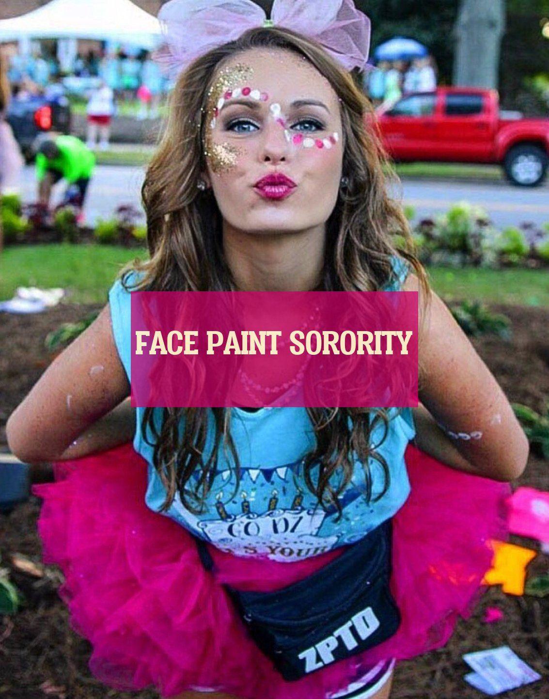 face paint sorority
