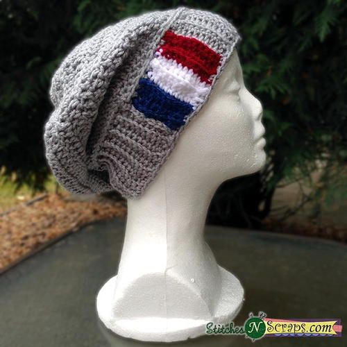 Easy Slouchy Beanie Free Crochet Hat Patterns And Double Crochet