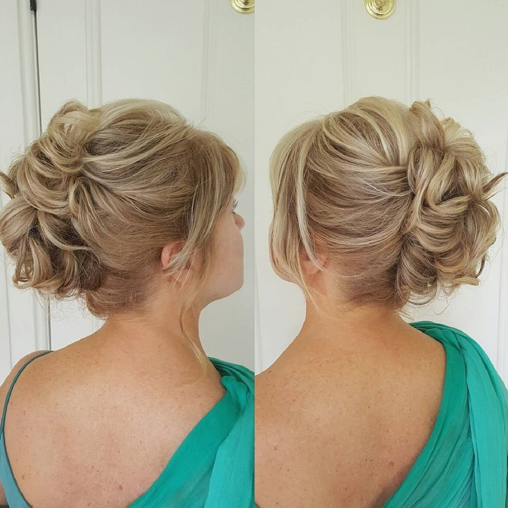 Mother Of The Bride Updo For Shorter Hair Mother Of The Groom Hairstyles Mother Of The Bride Hair Short Hair Updo