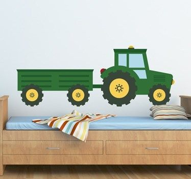 Children S Tractor Sticker Kinder Wandsticker Kinderzimmer Junge Kinder Zimmer
