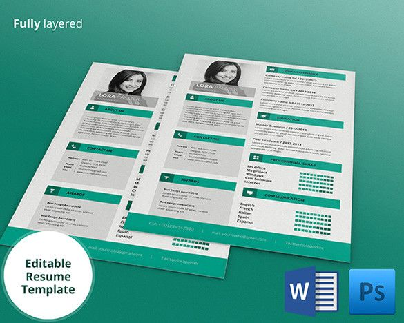 Full Layered Architecture Resume , Mac Resume Template \u2013 Great for - apple pages resume templates