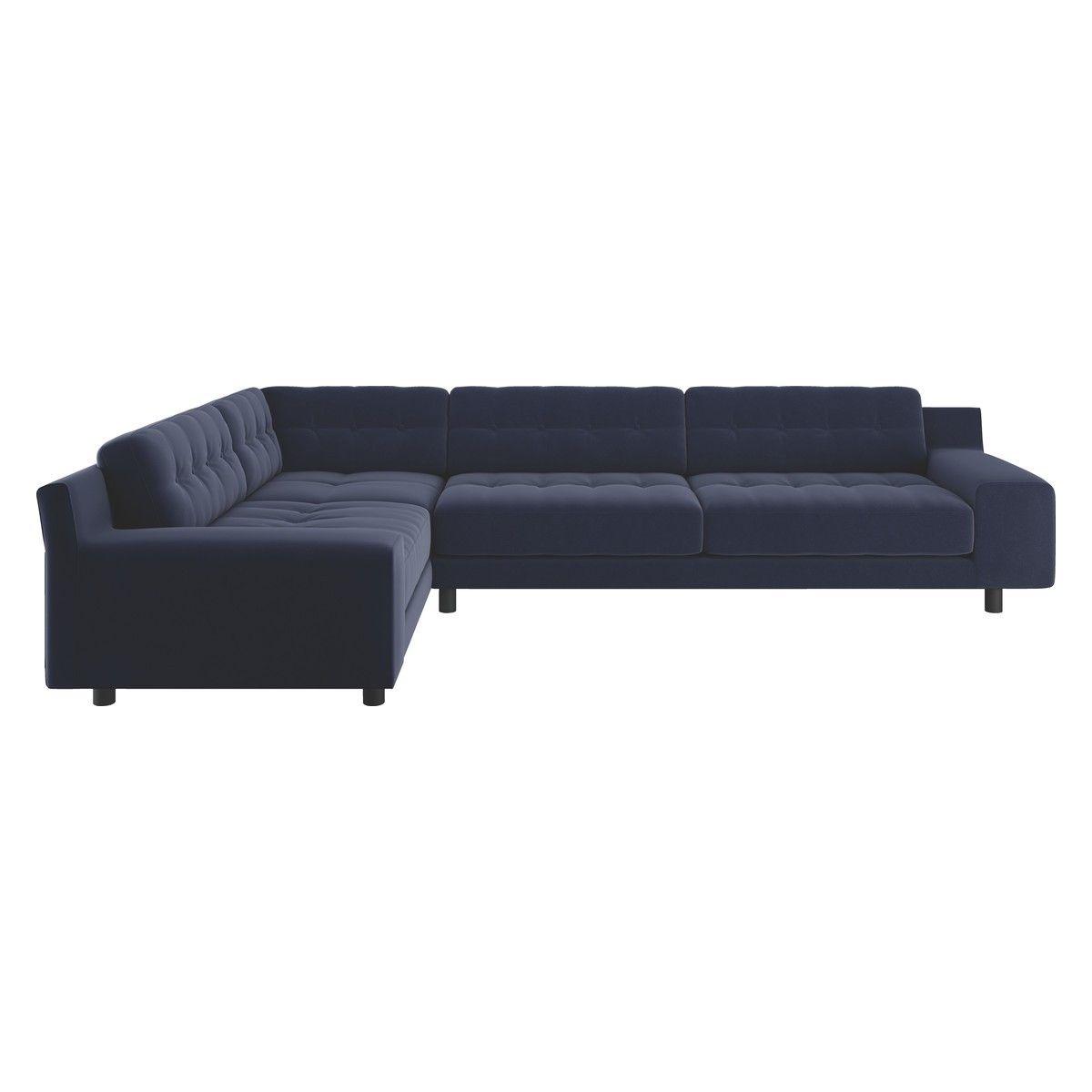 Hendricks Navy Velvet Right Arm Corner Sofa Corner Sofa Buy Sofa Sofa