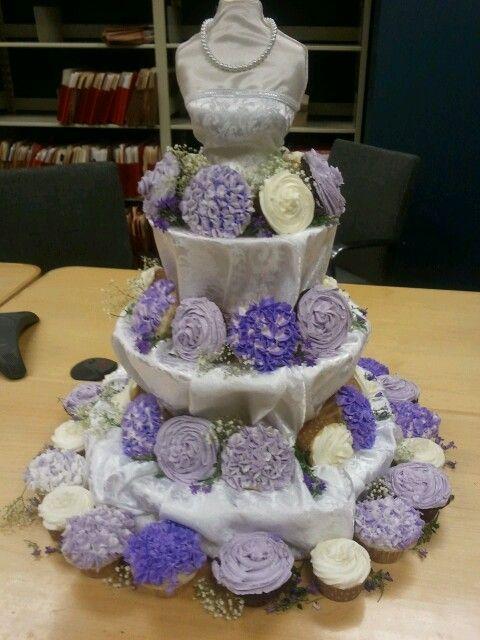 melissas wedding shower at work cupcake stand