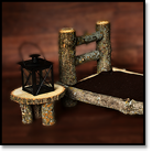Newborn Log Bed Style 2 WITH Night Stand / Lantern