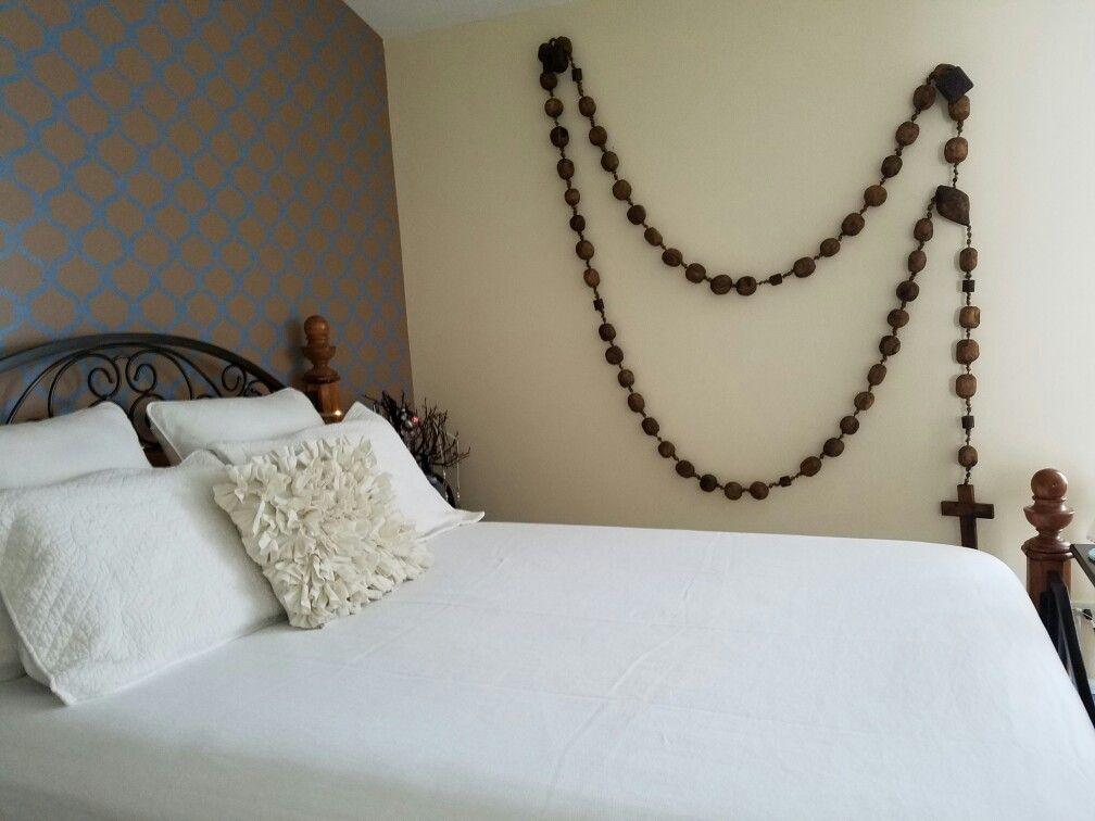 Giant Rosary Catholic Decor Catholic Wall Decor Childrens Bedroom Decor