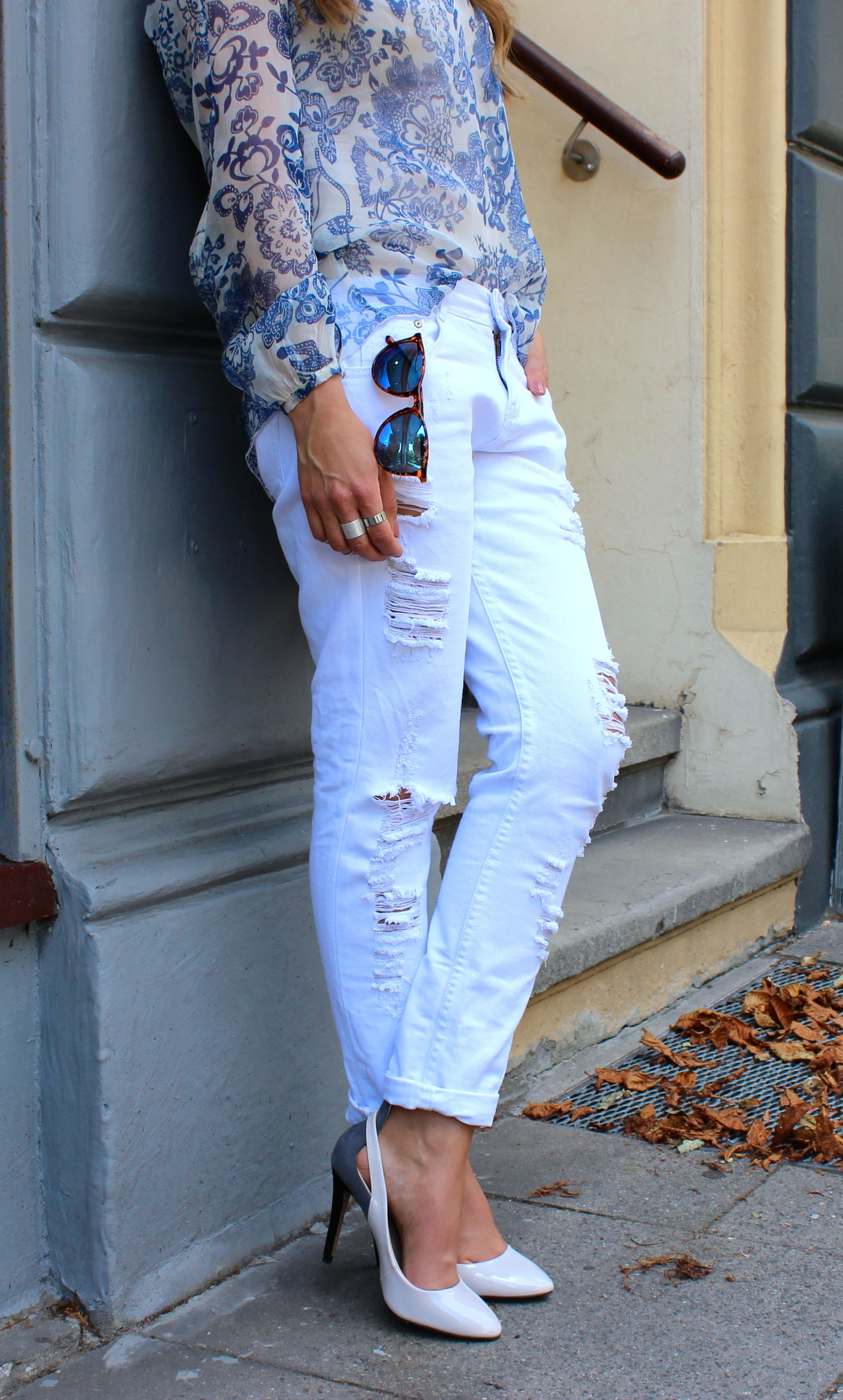 All White Outfit - LOVE & URBAN jeans: Zara shoes: Zara