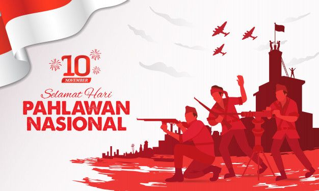 Selamat hari pahlawan nasional. translat... | Premium Vector #Freepik #vector #background