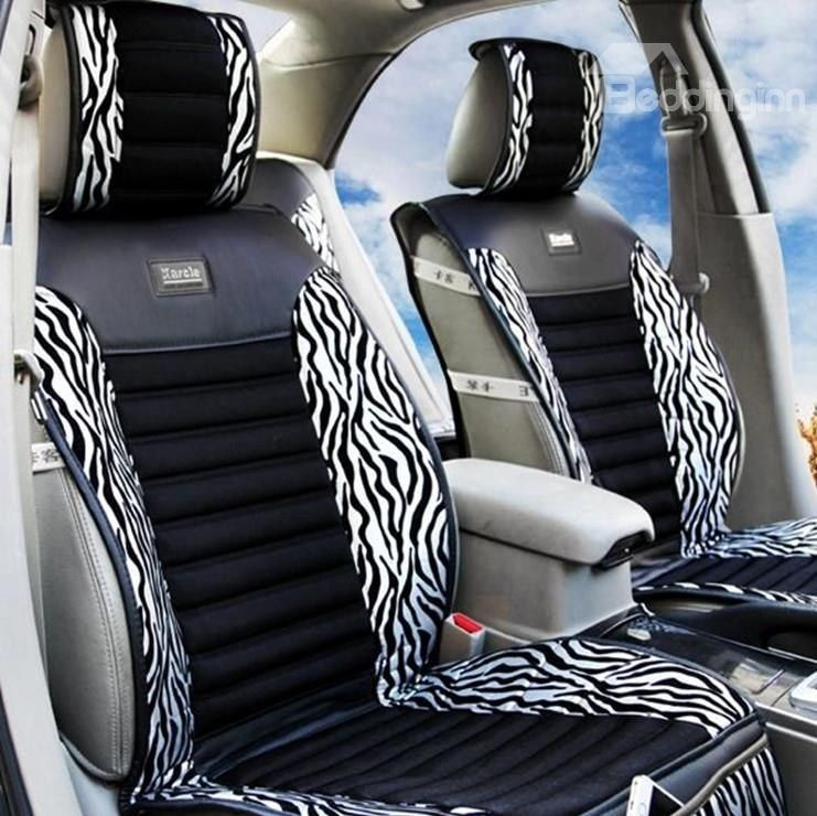Stupendous High Quality Classic Zebra Print Silver Car Seat Cover Short Links Chair Design For Home Short Linksinfo