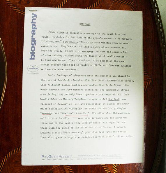 Bon Jovi 7800 Fahrenheit Vintage Vinyl Record 1985 Bon Jovi Vintage Vinyl Records Vinyl Records