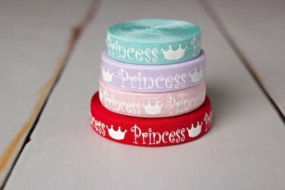 Princess FOE Sample Pack - Red Princess Elastic - Aqua Crown Elastic - 4 Yards on Etsy, $3.90