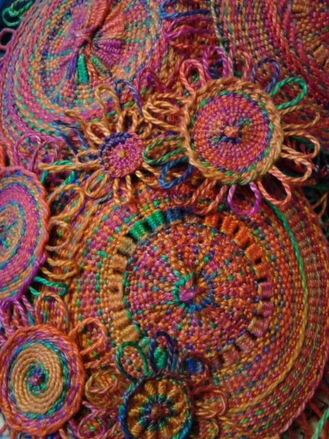 My Wee Looms Weavings Circle Weaving Pinterest