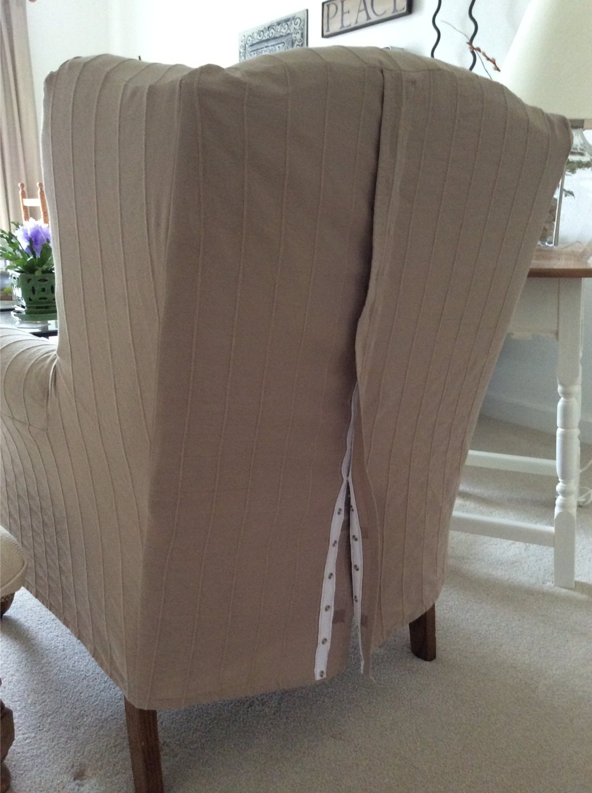 Wing Chair Slipcover For Under 40 A Year Of Diy In