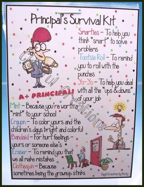 Principal S Survival Kit With Images Teacher Survival