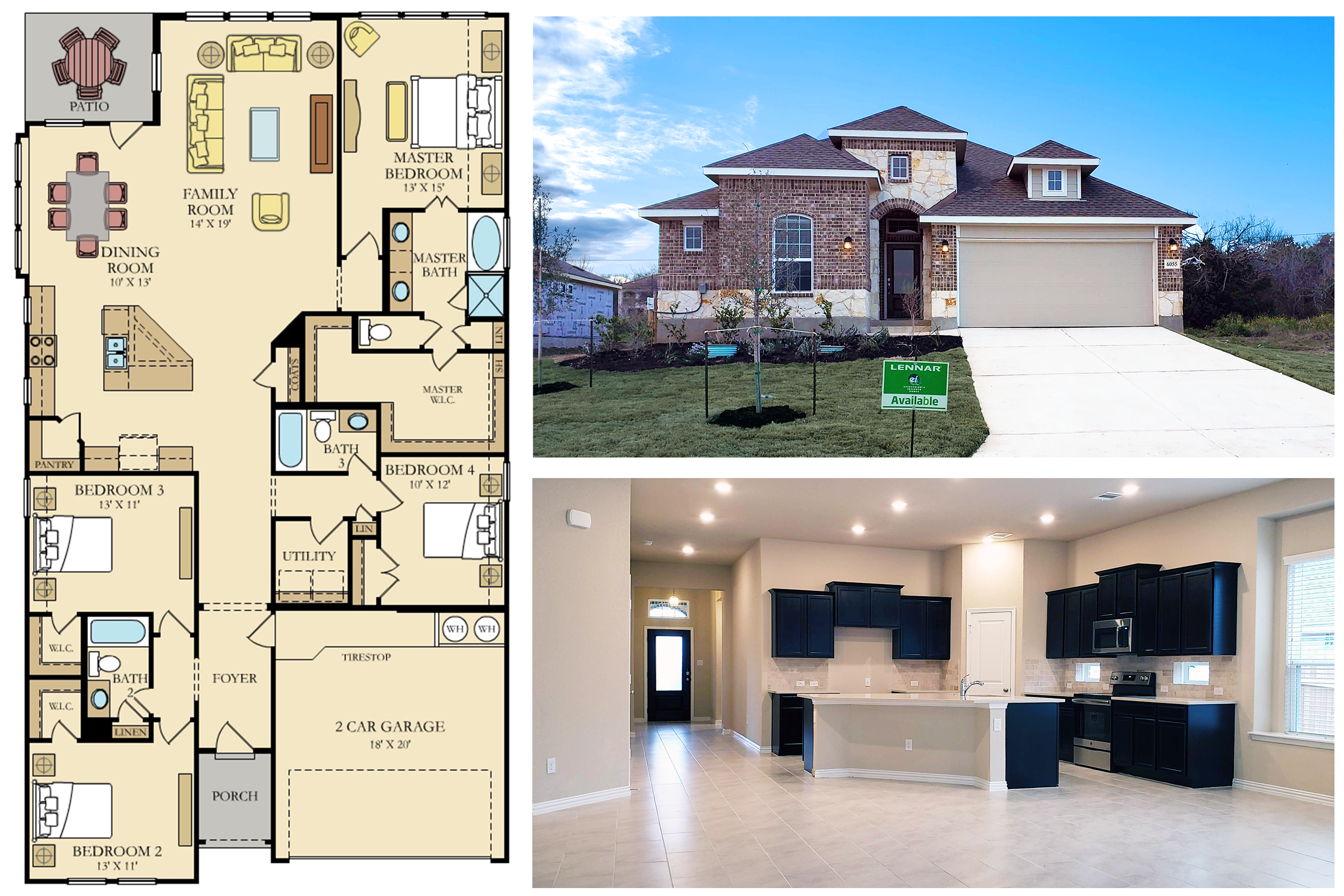 Would You Love To Own This Beautiful Home Madura Floorplan 4 Bedroom 3 Bath Move In Ready The New Homes New Homes For Sale New Home Construction