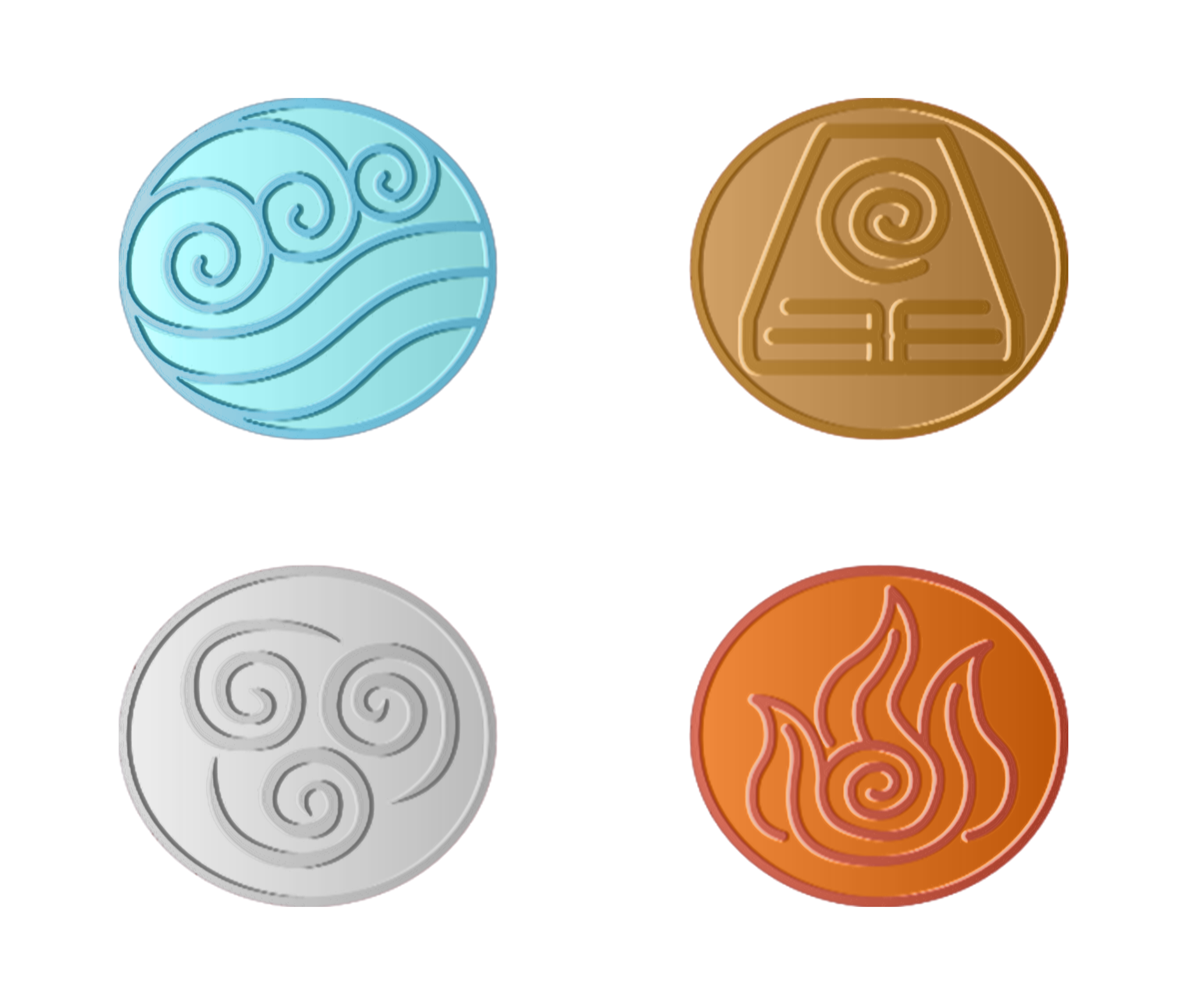 Avatar The Last Airbender Earth Fire Air Water Sticker By P47d47 Avatar The Last Airbender The Last Airbender Earth Air Fire Water
