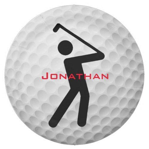 Golf Ball Design Paper Party Plate  sc 1 st  Pinterest & Golf Ball Design Paper Party Plate | Golf Inspiration | Pinterest | Golf