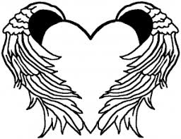 Guardian Angel Wings Free Svg Bing In 2021 Heart With Wings Heart Coloring Pages Line Art