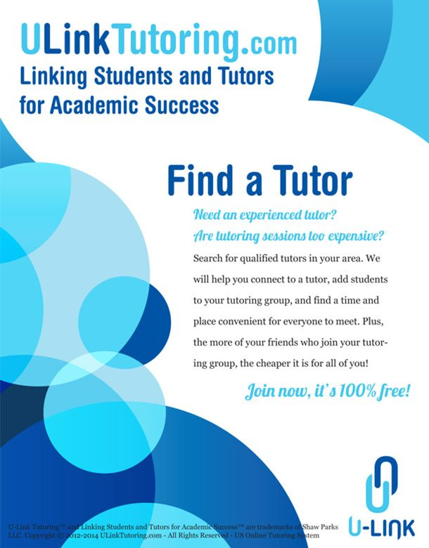 Cool Tutoring Flyers   TutorWise