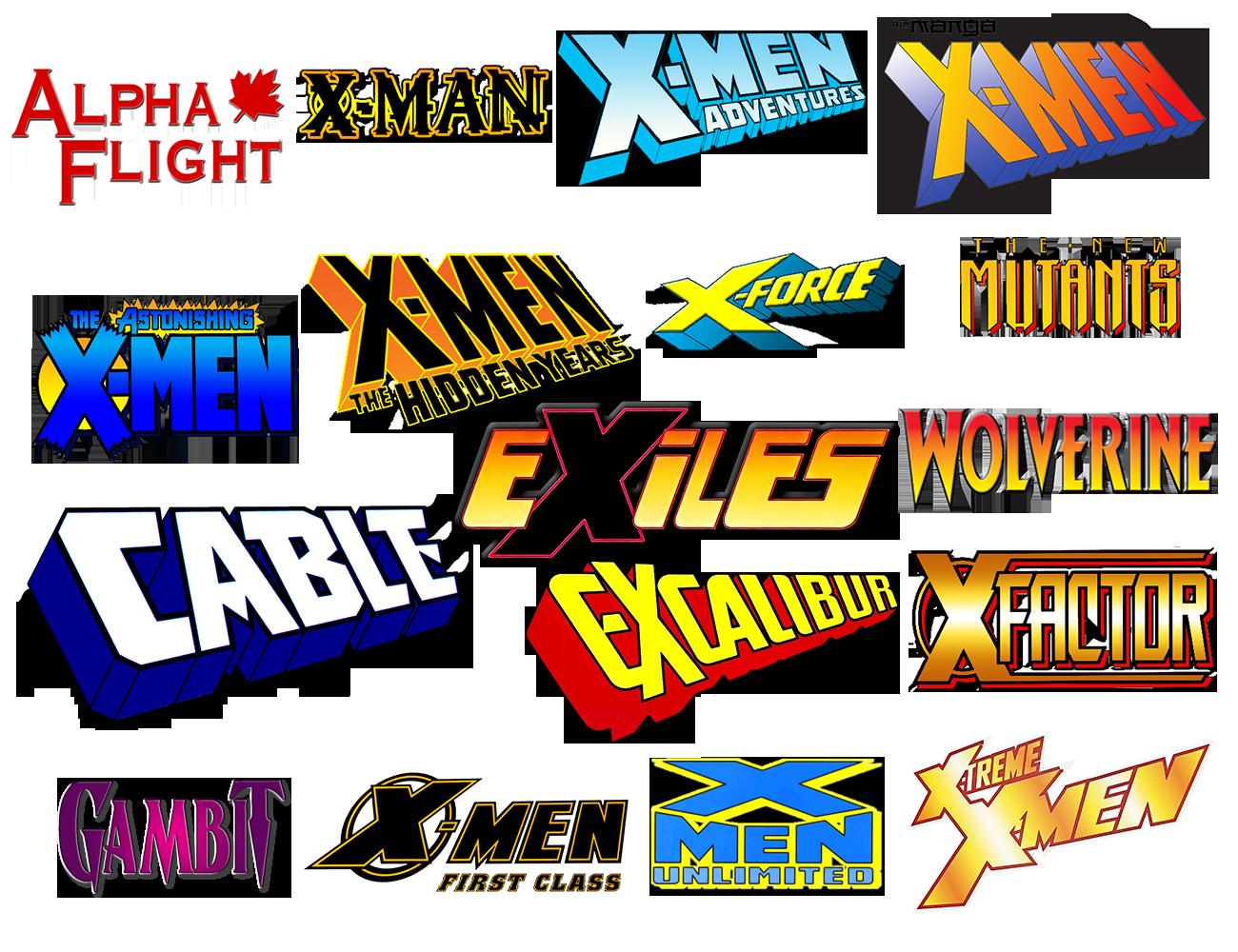 X Men Comic Logo Icons Vol 1 By Meganubis On Deviantart Xmen Logo Comics Logo Men Logo