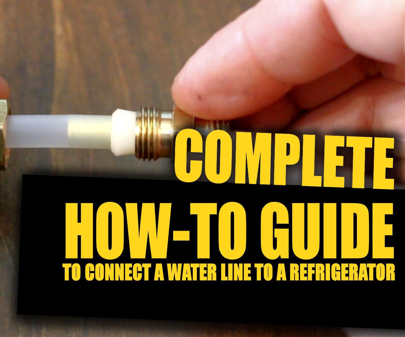 How To Connect A Water Line To Your Refrigerator Connection Refrigerator Line