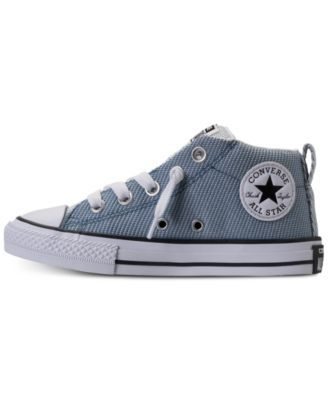 0e01490ecda7 Converse Little Boys  Chuck Taylor All Star Street Mid Casual Sneakers from Finish  Line - Blue 2.5