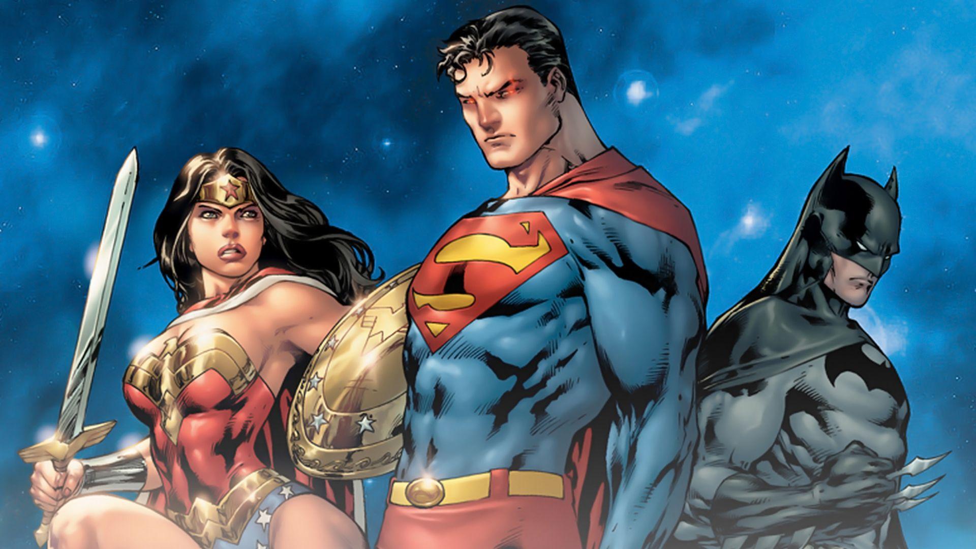 Dc universe online legends batman superman and wonder woman by ed benes visit to grab an amazing super hero shirt now on sale