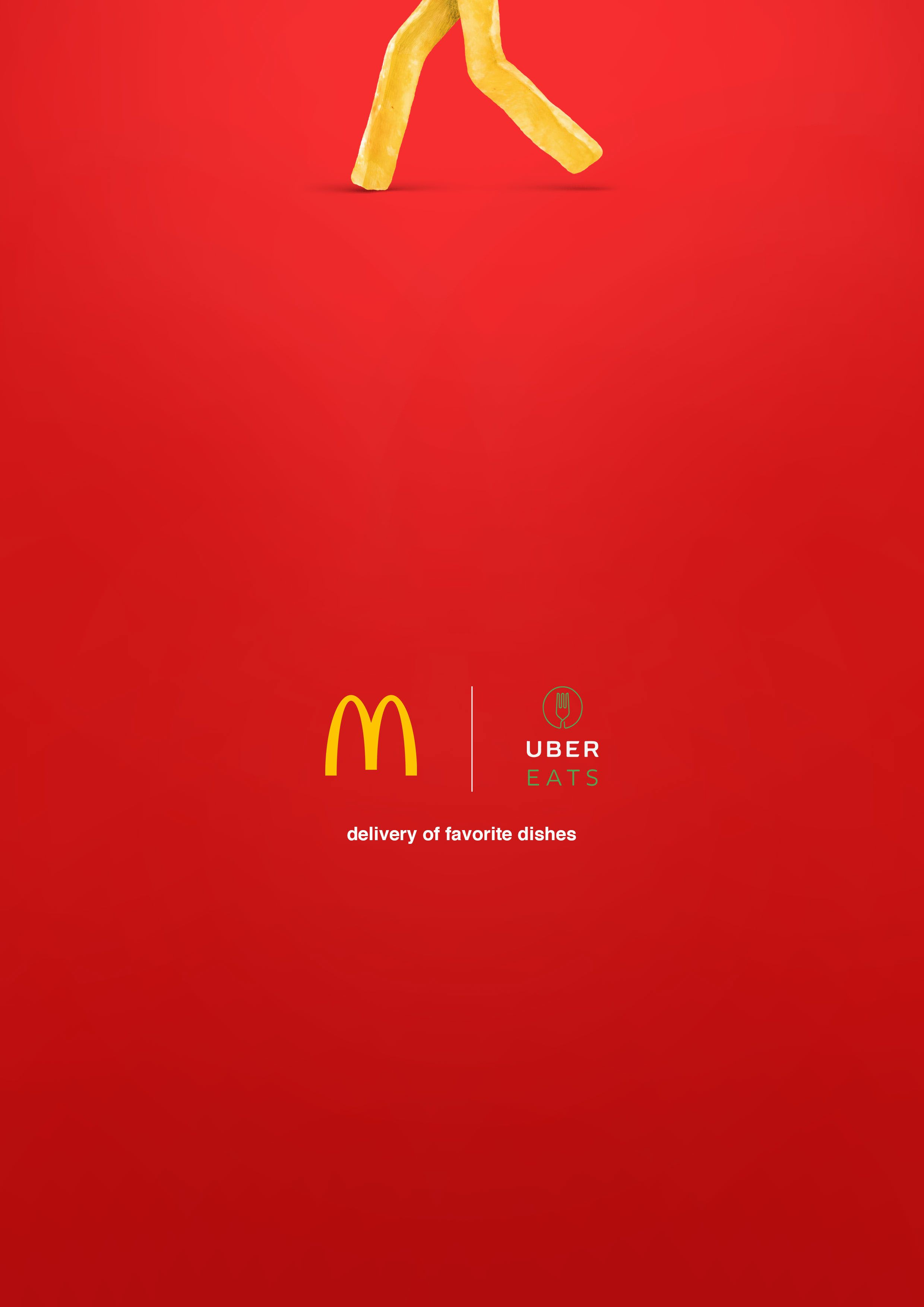 McDonald's minimalist advertising poster delivery from ...