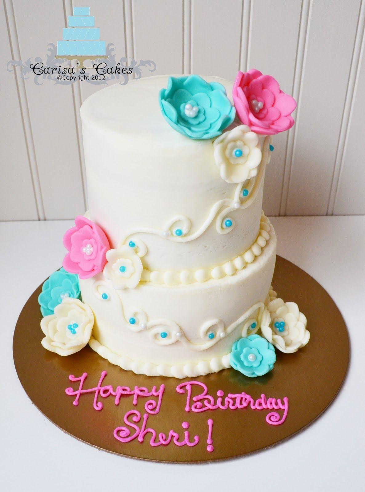 2 tier birthday cakes Carisas Cakes Tiered Miniature Birthday