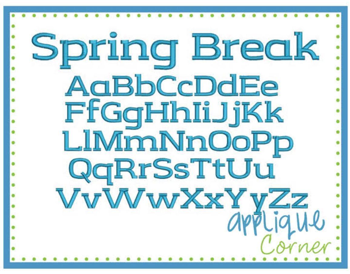 Spring Break Font