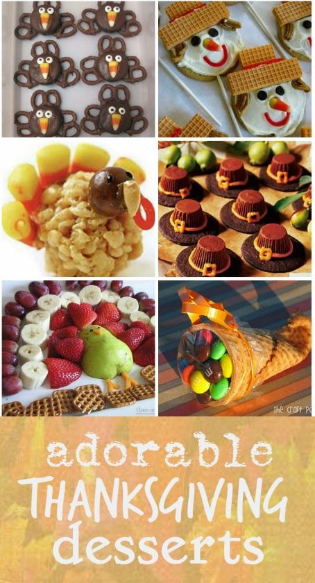 adorable Thanksgiving desserts