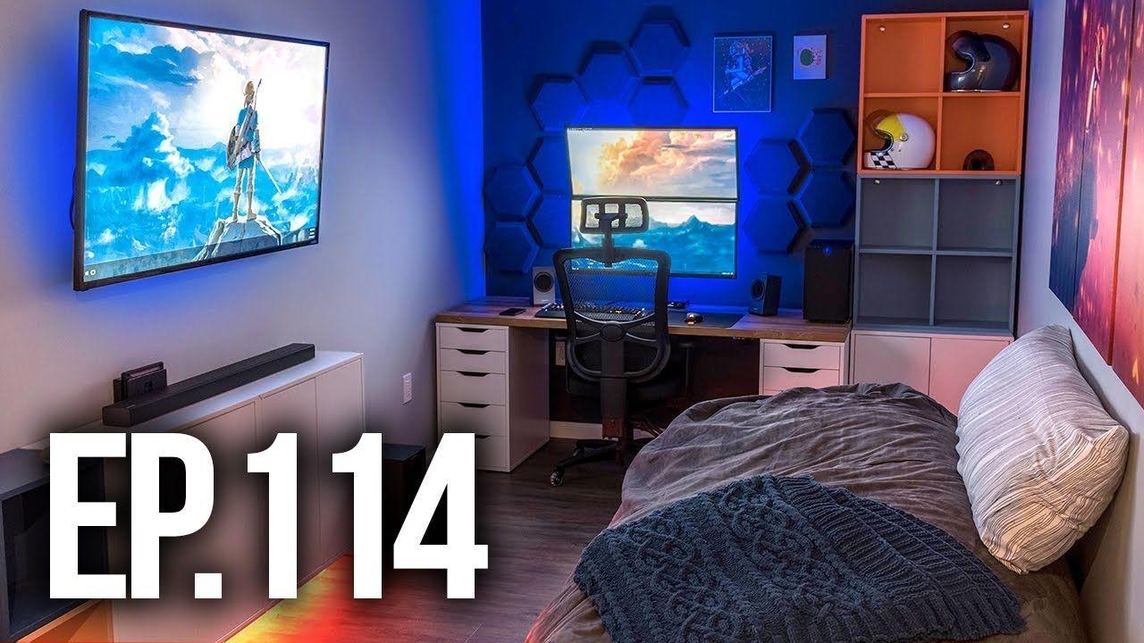 Room Tour Project 6 - Best Gaming Setups!  Bedroom setup, Small