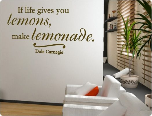 if life gives you lemons rubberstamp | Wandtattoo Zitat - If life gives you lemons