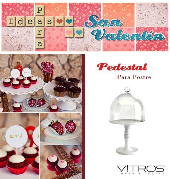 ¡Ideas para San Valentín! Este pedestal para postres es indispensable para el montaje de tu mesa de dulces.