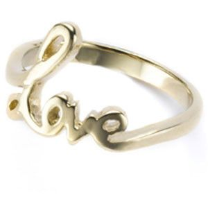 Monsoon Accessorize - Gold Love Letters Ring Profile Photo