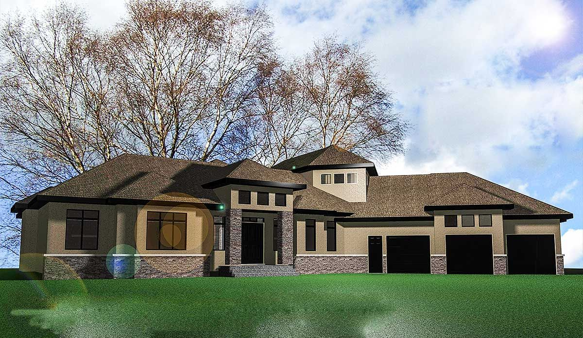 Plan 81603ab Clean Lines Bungalow Style House Plans House Plans Walk In Pantry