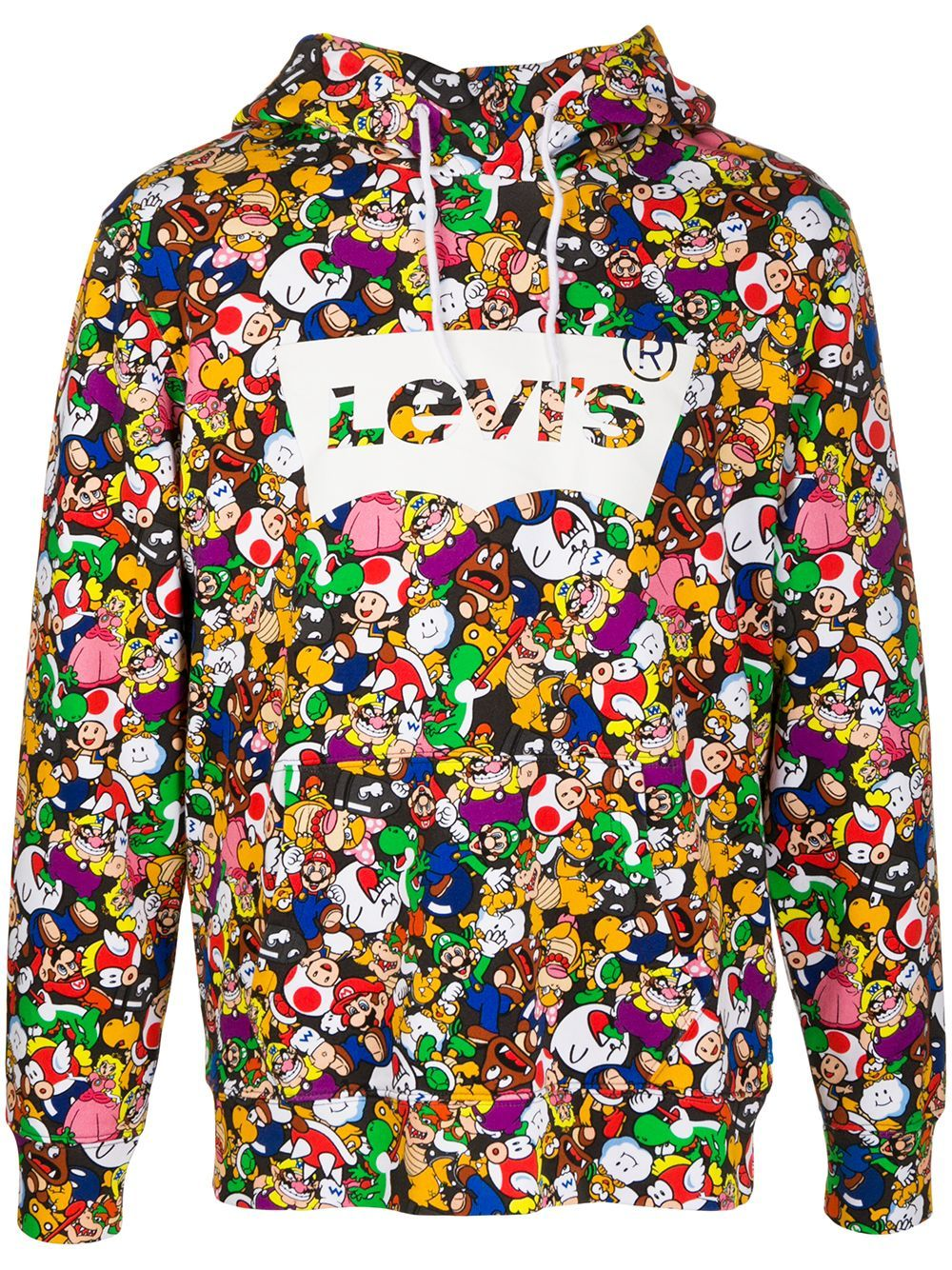 Levi S X Super Mario Graphic Hoodie Farfetch Graphic Hoodies Hoodies Levi [ 1334 x 1000 Pixel ]
