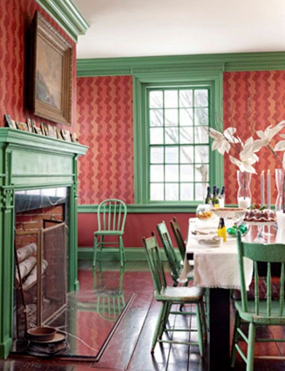 Red and green   Dining room decor, Christmas dining room ...