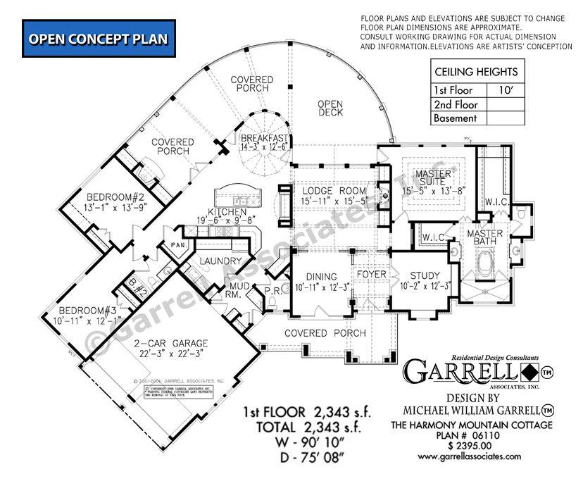 Harmony Mountain Cottage 06110 Garrell Associates Inc Mountain House Plans Floor Plans Ranch Craftsman Style House Plans