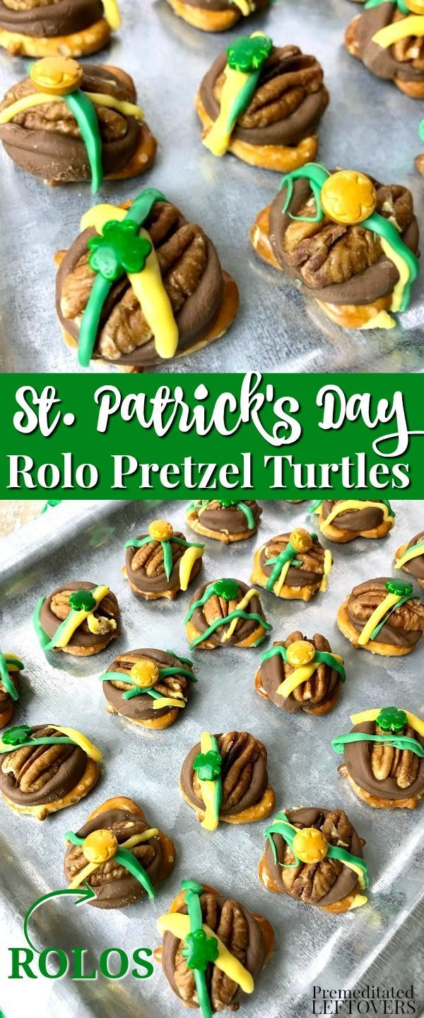 St. Patrick's Day Rolo Pretzel Turtles Recipe