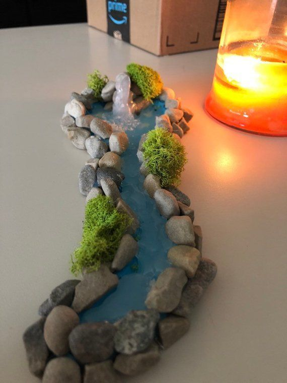 Photo of Miniature gardens 750764200366789601 – Miniature river with waterfall / #with …