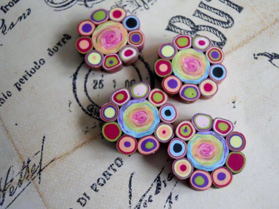 Polymer Clay Beads by TLS Clay Design by TLSClayDesign on Etsy, $4.99