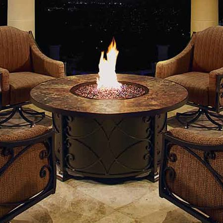 Viento 54 Round Chat Fire Pit Table Woodlanddirect Com Outdoor