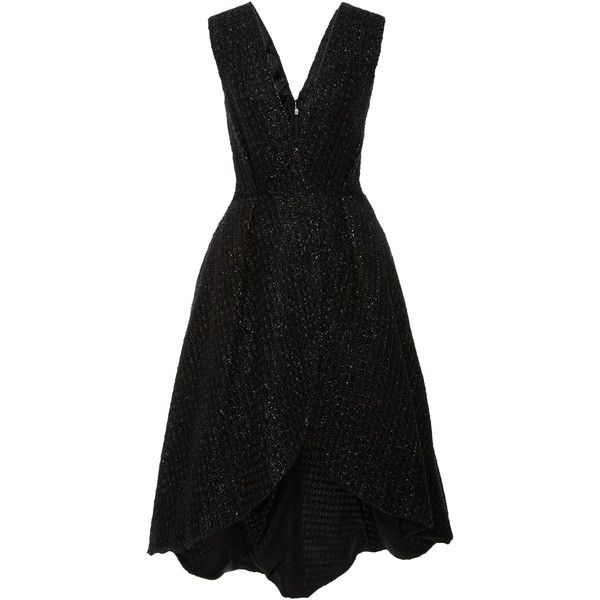 Christian Siriano Raffia Wrap Dress 1 900 Liked On Polyvore Featuring Dresses Christian Low V Neck Dress Necklines For Dresses Sleeveless Wrap Dress