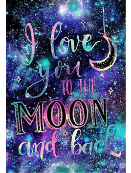 I Love You To The Moon And Back Diamond Painting Kit starting at just $8.99. Available in Full Drill with your choice of Square or Round diamonds. Exclusively at Meiiss Diamond Painting. Free Shipping Everywhere. Free Returns. Best Customer Service.   #diamondpainting #paintbydiamonds #diamonddotz