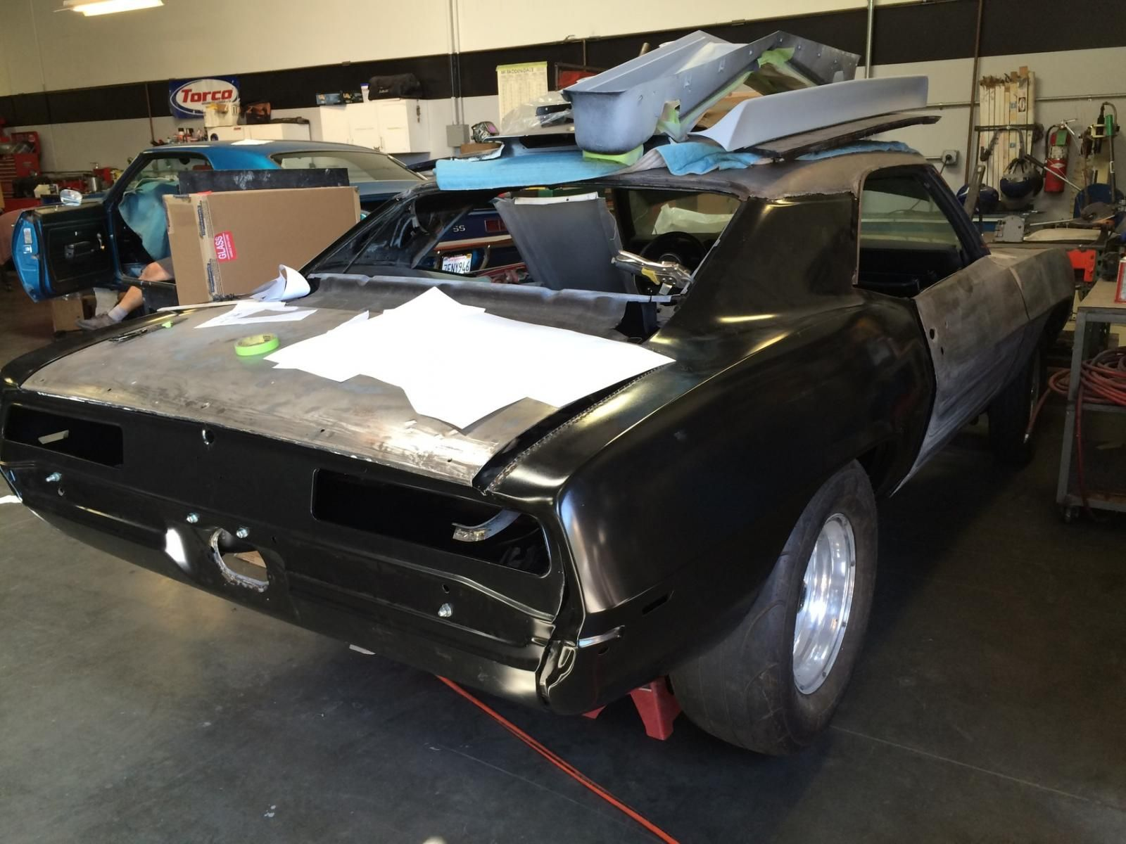 March 30, 2015, new quarter panels and rear body panel being