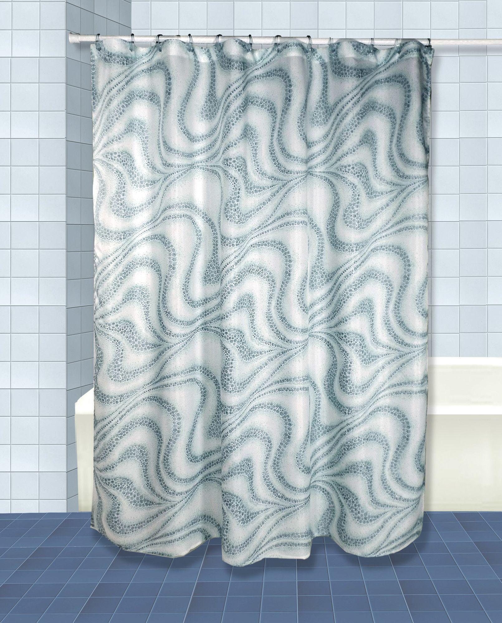 Tidal Shower Curtain Set